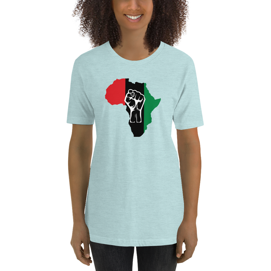 RAISED FIST 'AFRICA' (UNIA/WHITE) — Women's Premium T-shirt