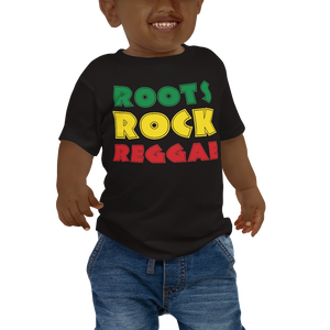ROOTS ROCK REGGAE (RASTA) — Short-sleeved Baby T-shirt