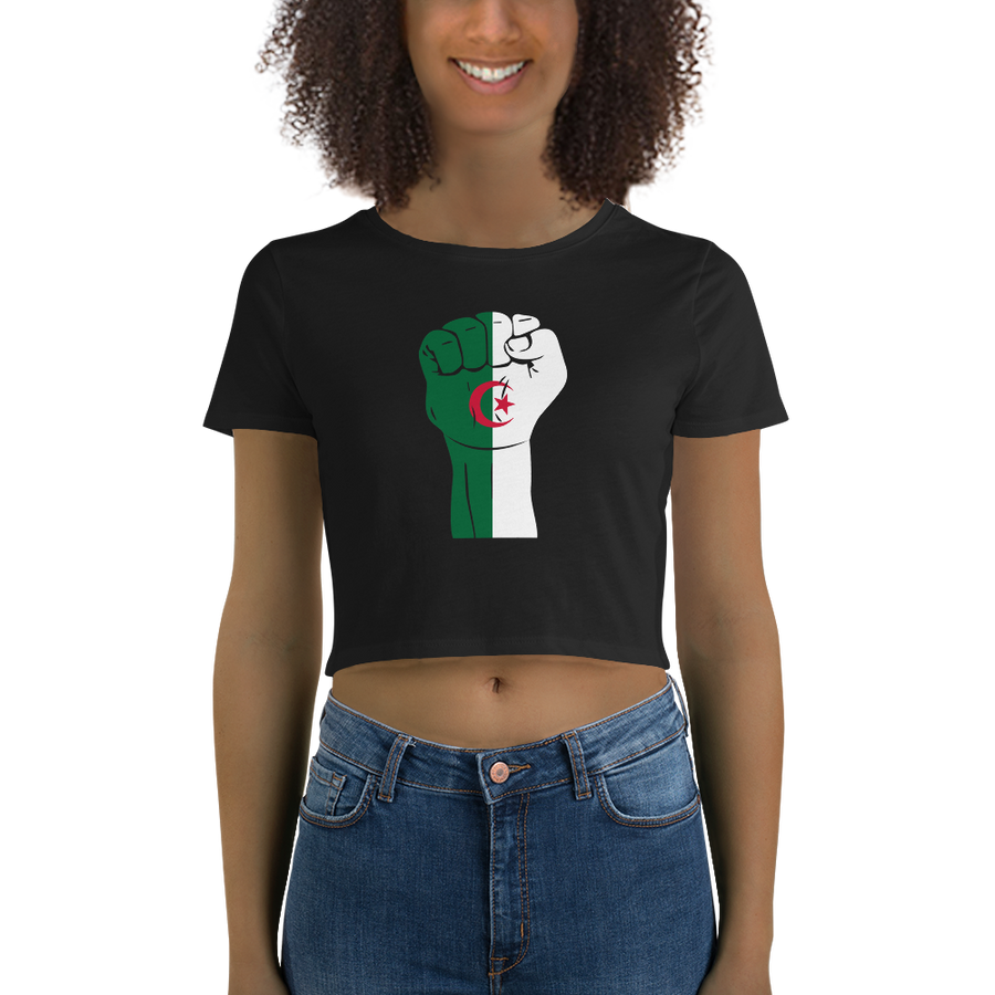 RAISED FIST 'ALGERIA' — Women's Crop Tee