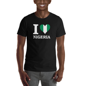 I ❤ NIGERIA (WHITE) — Men's Premium T-shirt