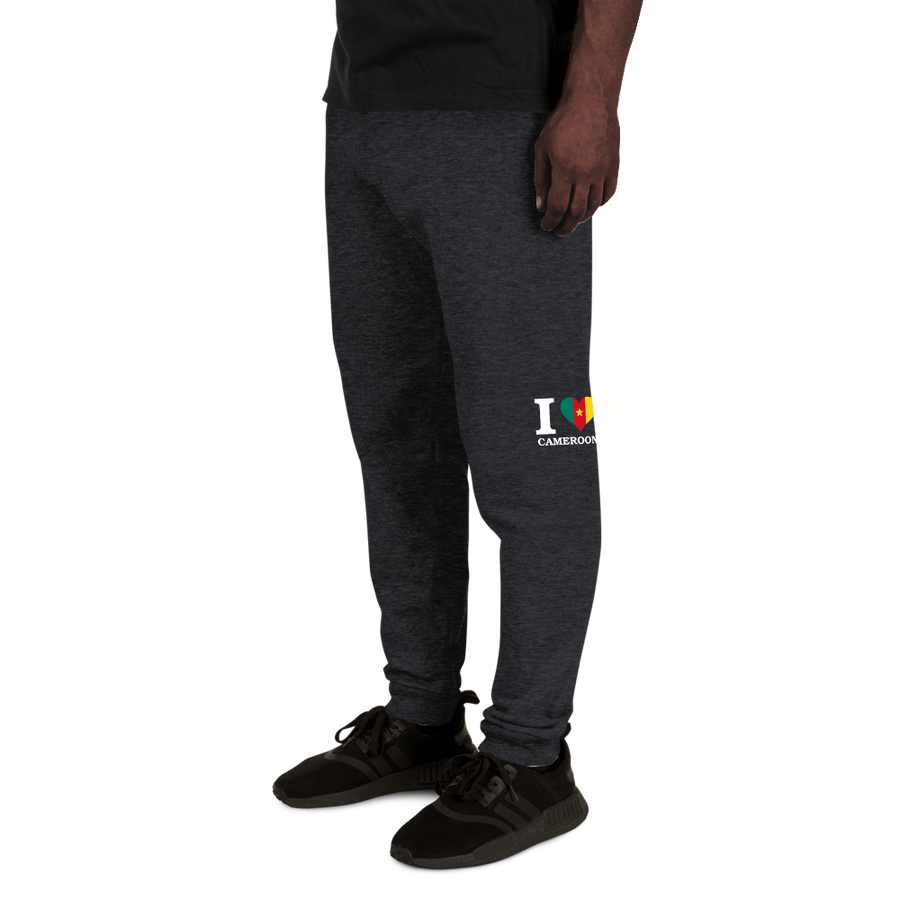 I ❤ CAMEROON (WHITE) — Men's Sweatpants