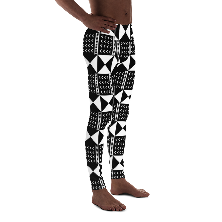 BÒGÒLANFINI 'WÓLONWULA' (BLACK/WHITE) — Hand-sewn Men's Leggings
