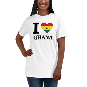 I ❤ GHANA (BLACK) — Women's Organic T-shirt