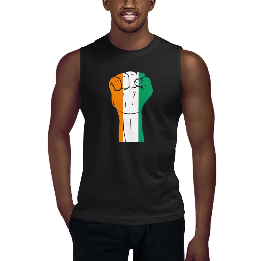 RAISED FIST 'CÔTE D'IVOIRE' — Men's Muscle Shirt