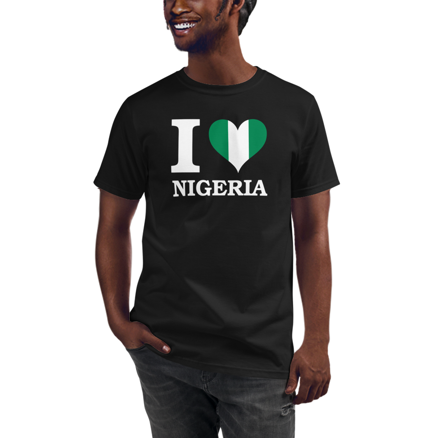 I ❤ NIGERIA (WHITE) — Men's Organic T-shirt