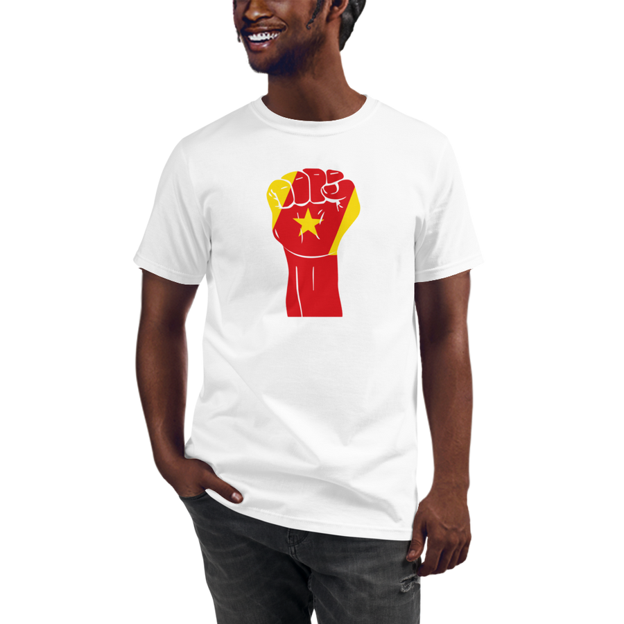 RAISED FIST 'AMHARA' — Men's Organic T-shirt
