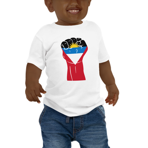 RAISED FIST 'ANTIGUA AND BARBUDA' — Short-sleeved Baby T-shirt