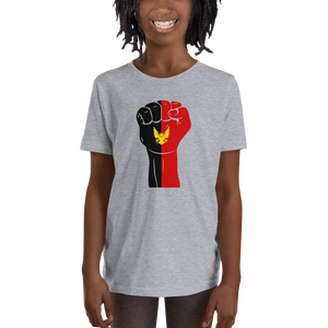 RAISED FIST 'BAMILEKE' — Short-sleeved Youth T-shirt