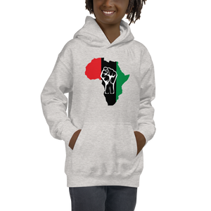 RAISED FIST 'AFRICA' (UNIA/WHITE) — Children's Hoodie