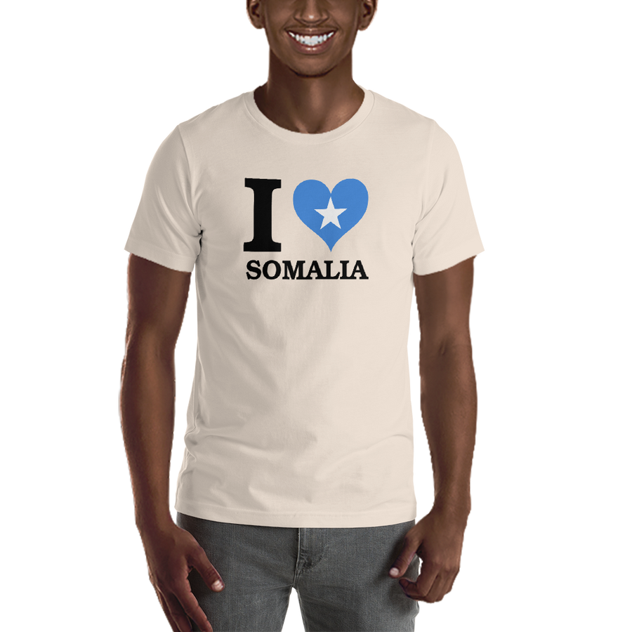 I ❤ SOMALIA (BLACK) — Men's Premium T-shirt
