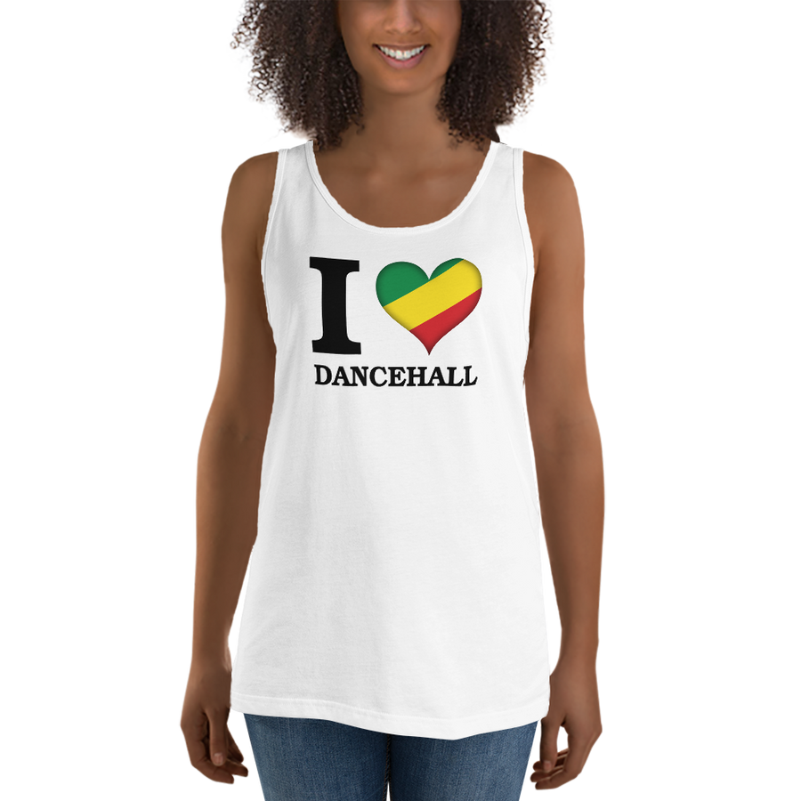 I ❤ DANCEHALL (RASTA/BLACK) — Women's Premium Tank Top