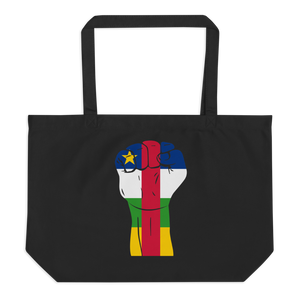 RAISED FIST 'CENTRAL AFRICAN REPUBLIC' — Organic Tote Bag