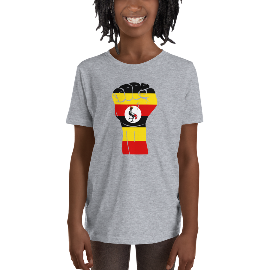 RAISED FIST 'UGANDA' — Short-sleeved Youth T-shirt
