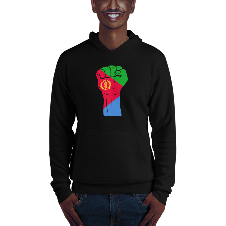 RAISED FIST 'ERITREA' — Men's Pullover Hoodie
