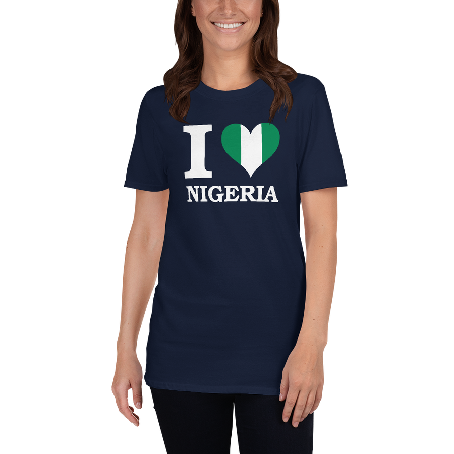 I ❤ NIGERIA (WHITE) — Women's T-shirt