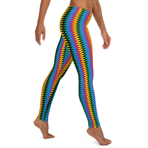 ASANTE KENTE 'ZIG-ZAG' — Hand-sewn Women's Leggings