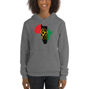 RAISED FIST 'AFRICA' (UNIA/YELLOW) — Women's Pullover Hoodie