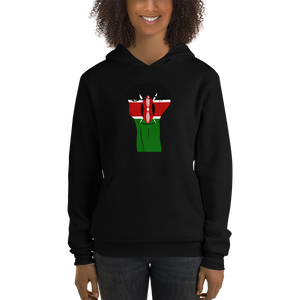 RAISED FIST 'KENYA' — Women's Pullover Hoodie