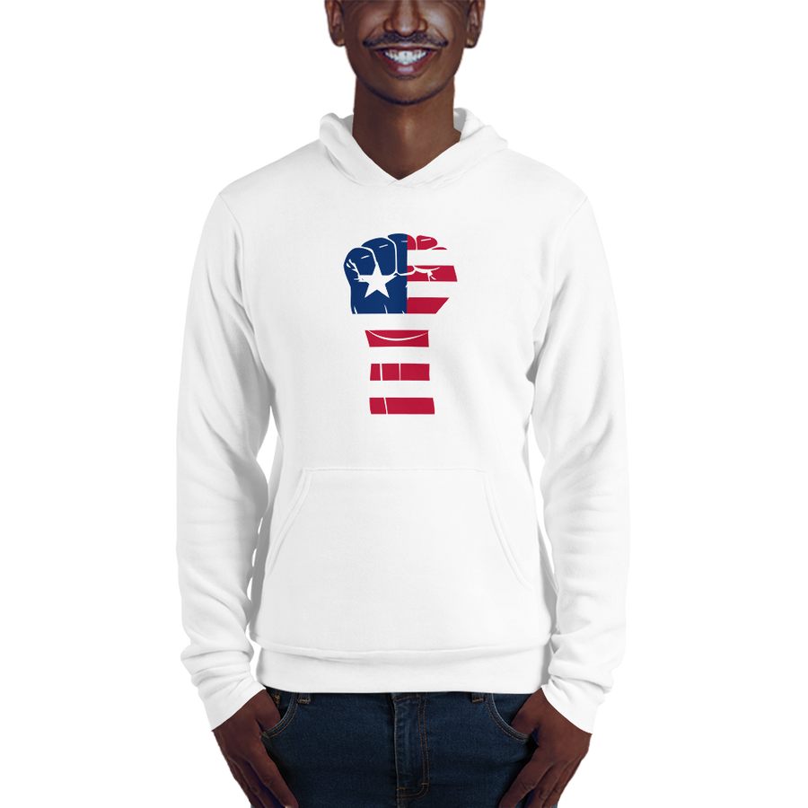 RAISED FIST 'LIBERIA' — Men's Pullover Hoodie