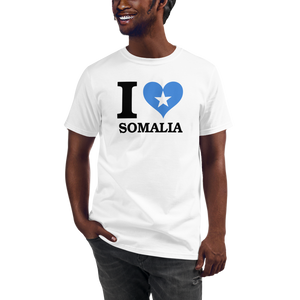 I ❤ SOMALIA (BLACK) — Men's Organic T-shirt