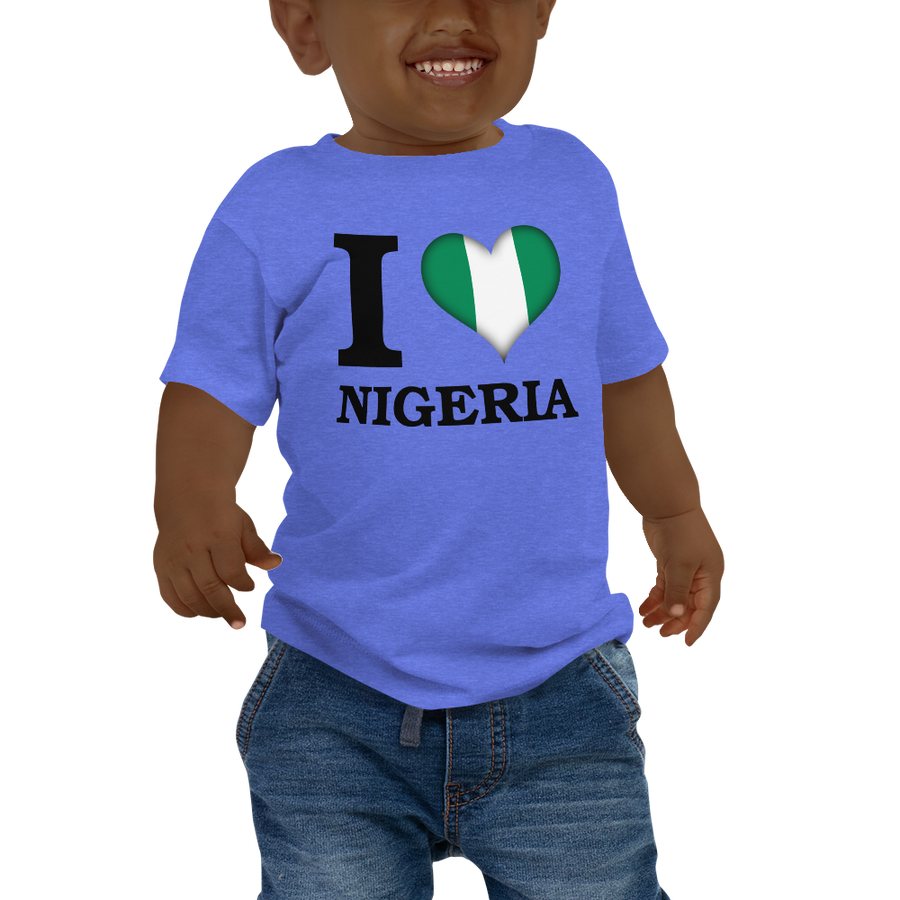 I ❤ NIGERIA (BLACK) — Short-sleeved Baby T-shirt