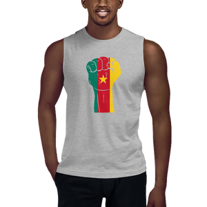 RAISED FIST 'CAMEROON' — Men's Muscle Shirt