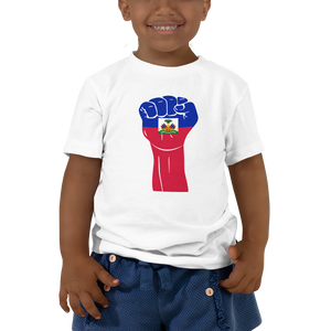 RAISED FIST 'HAITI' — Short-sleeved Toddler T-shirt