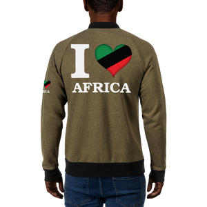 I ❤ AFRICA (UNIA/WHITE) — Men's Bomber Jacket