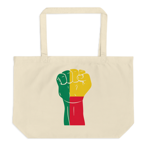 RAISED FIST 'BENIN' — Organic Tote Bag