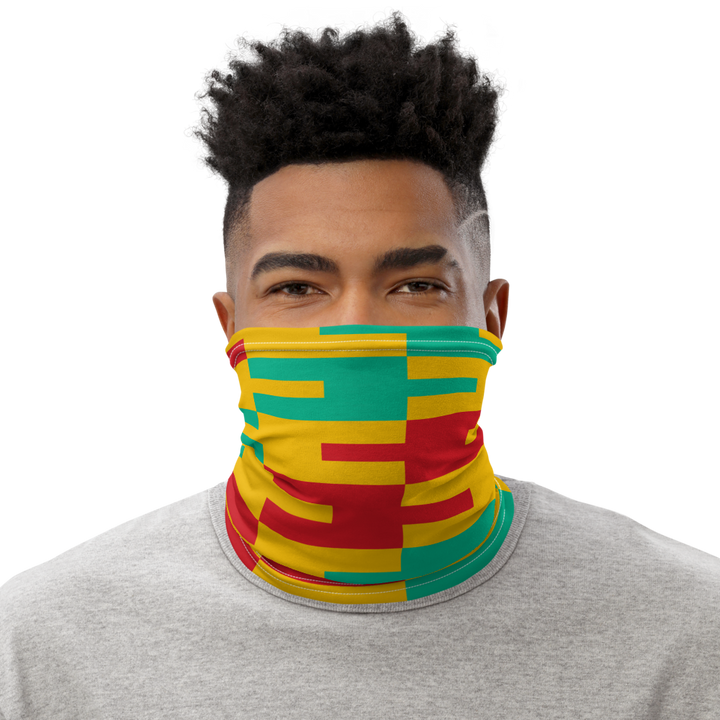 ASANTE KENTE 'AFA' (yellow) — Neck Gaiter