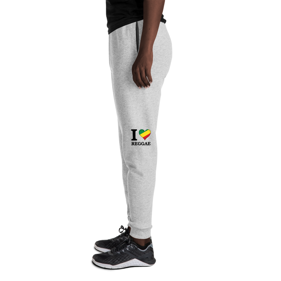 I ❤ REGGAE (RASTA/BLACK) — Women's Sweatpants