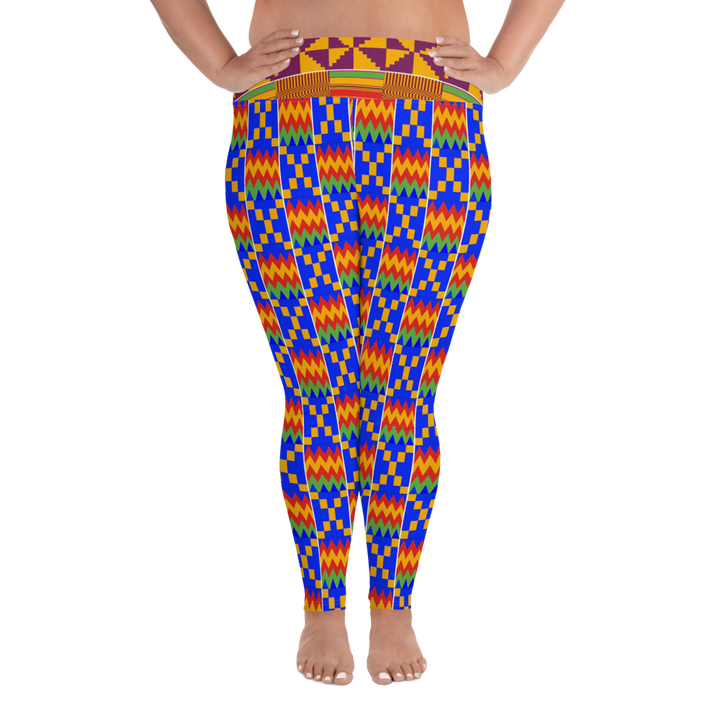 Asante Kente Print 'Aduonu' — Hand-sewn Women's Plus-size leggings