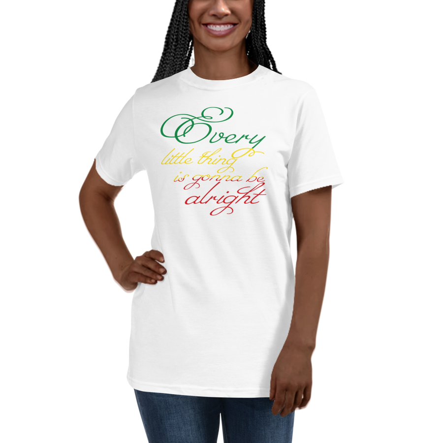 EVERY LITTLE THING (RASTA) — Women's Organic T-shirt