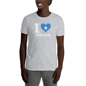 I ❤ SOMALIA (WHITE) — Men's T-shirt