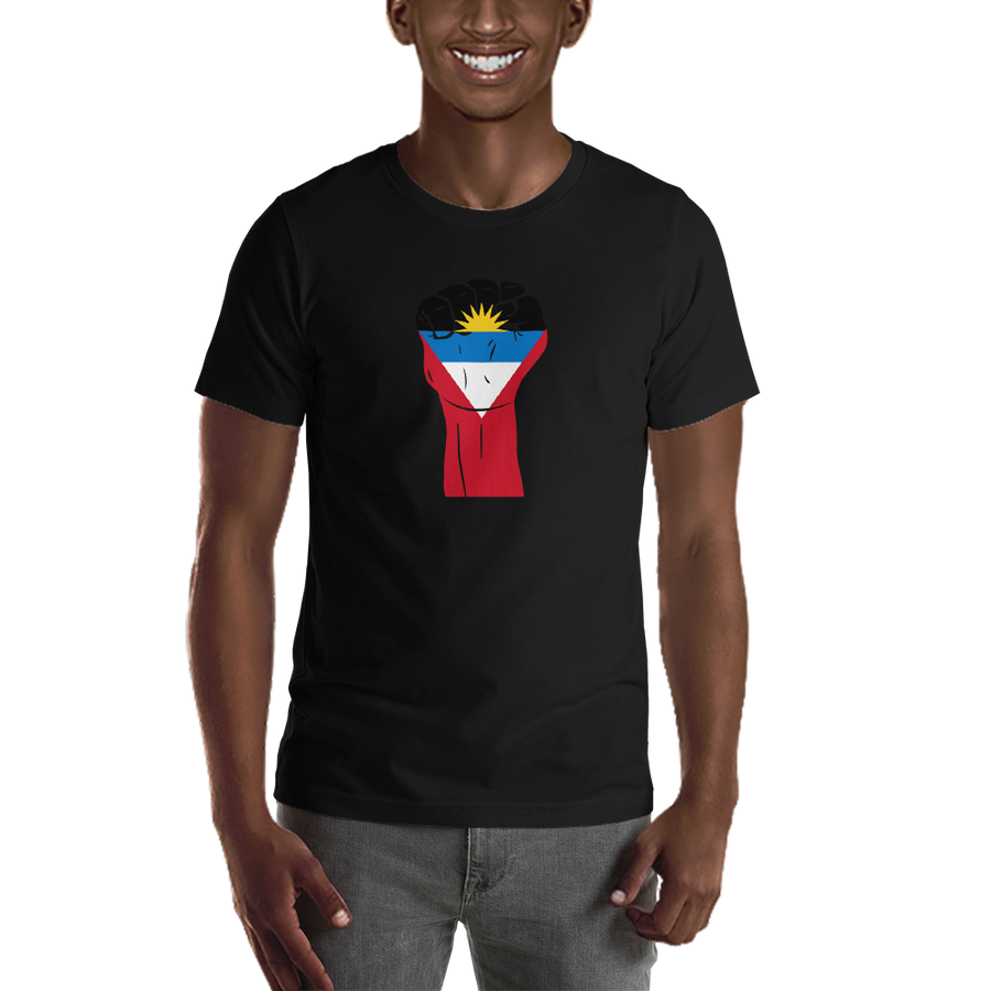 RAISED FIST 'ANTIGUA AND BARBUDA' — Men's Premium T-shirt