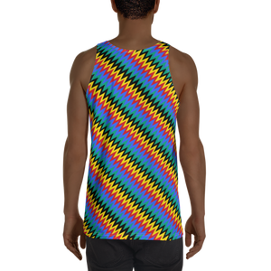 ASANTE KENTE 'ZIG-ZAG' — Hand-sewn Men's Tank Top