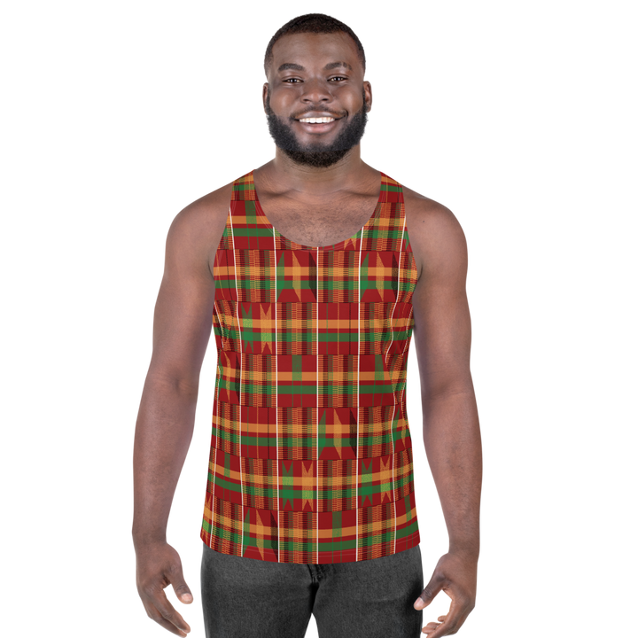 Asante Kente Print 'Dunum' — Men's Tank Top