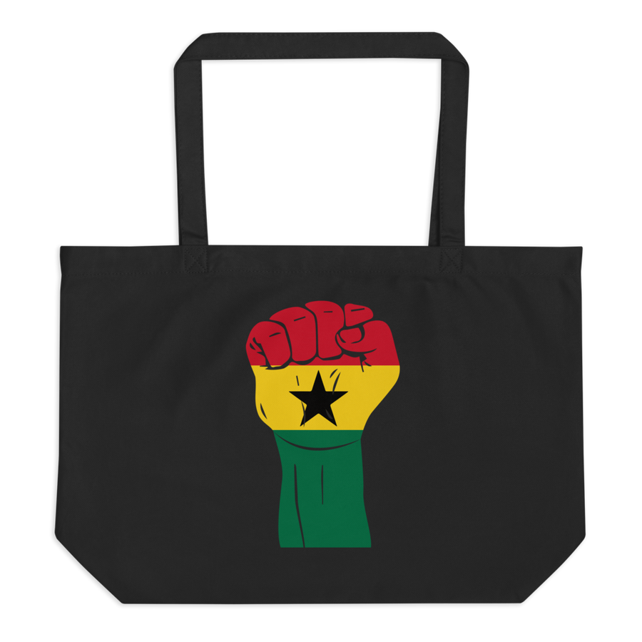 RAISED FIST 'GHANA' — Organic Tote Bag