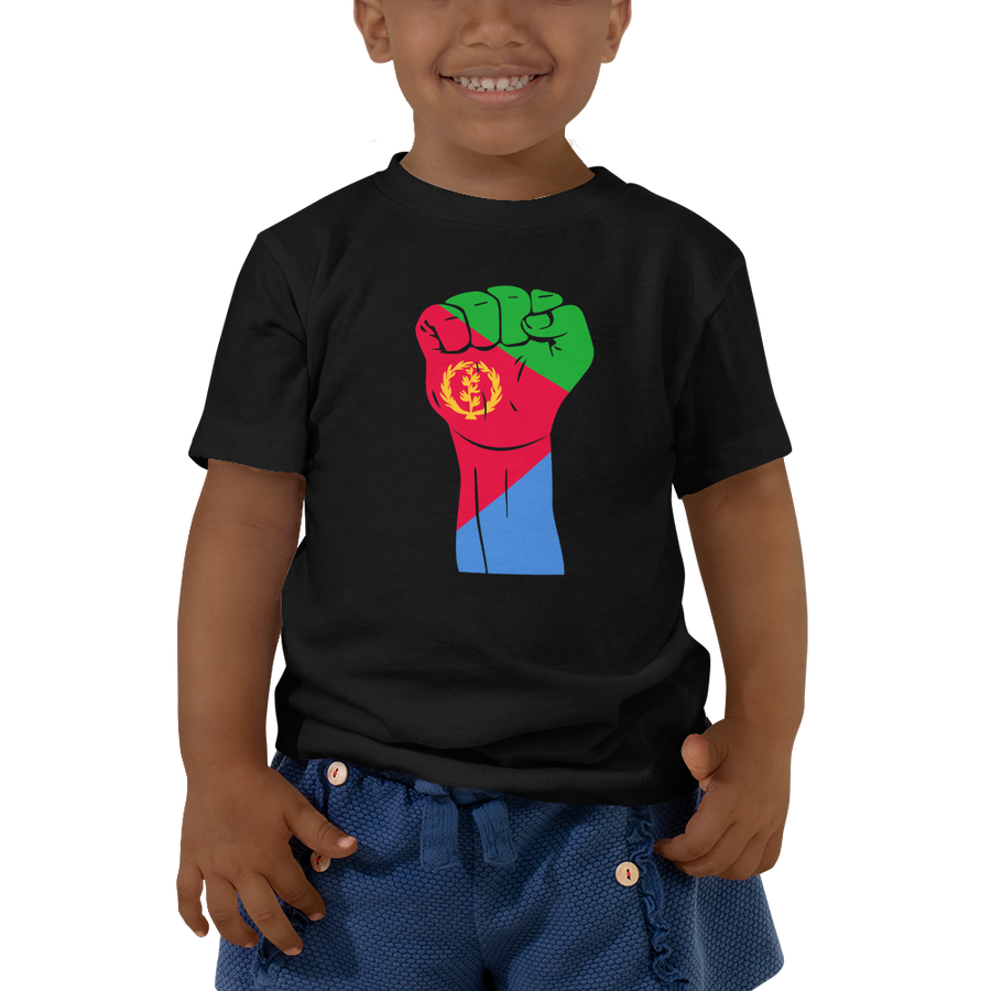 RAISED FIST 'ERITREA' — Short-sleeved Toddler T-shirt