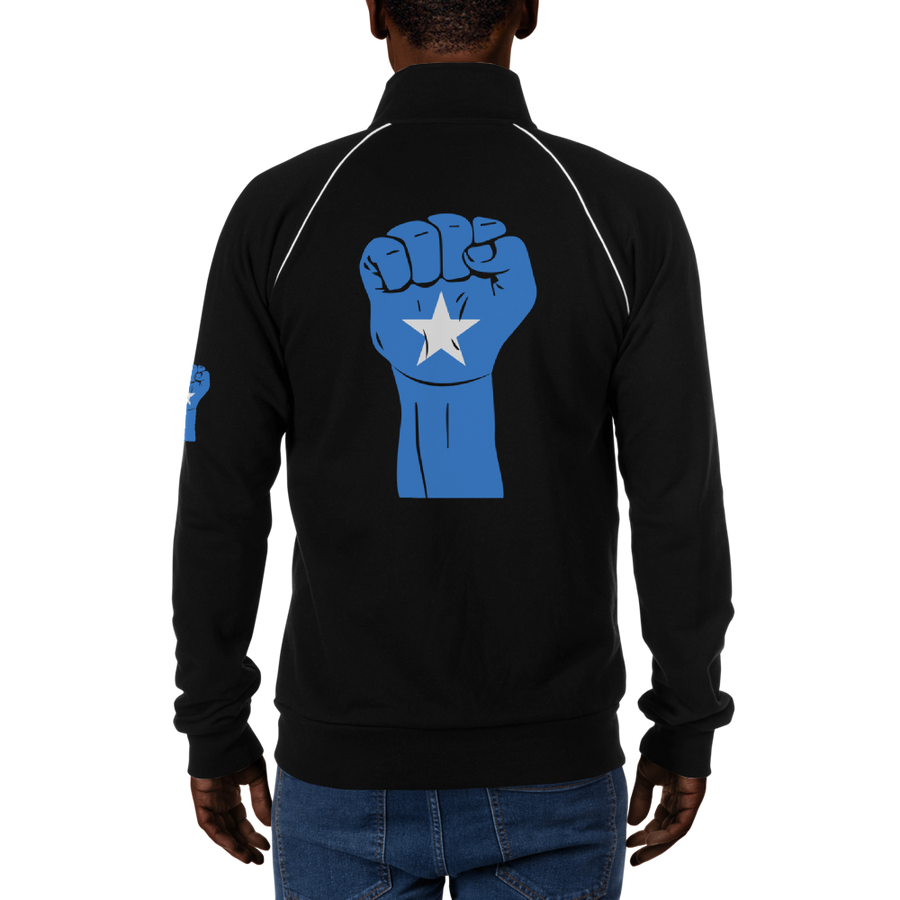 RAISED FIST 'SOMALIA' — Men's Piped Fleece Jacket