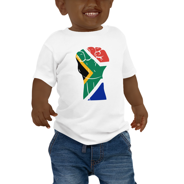 RAISED FIST 'SOUTH AFRICA' — Short-sleeved Baby T-shirt