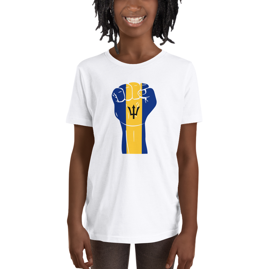RAISED FIST 'BARBADOS' — Short-sleeved Youth T-shirt