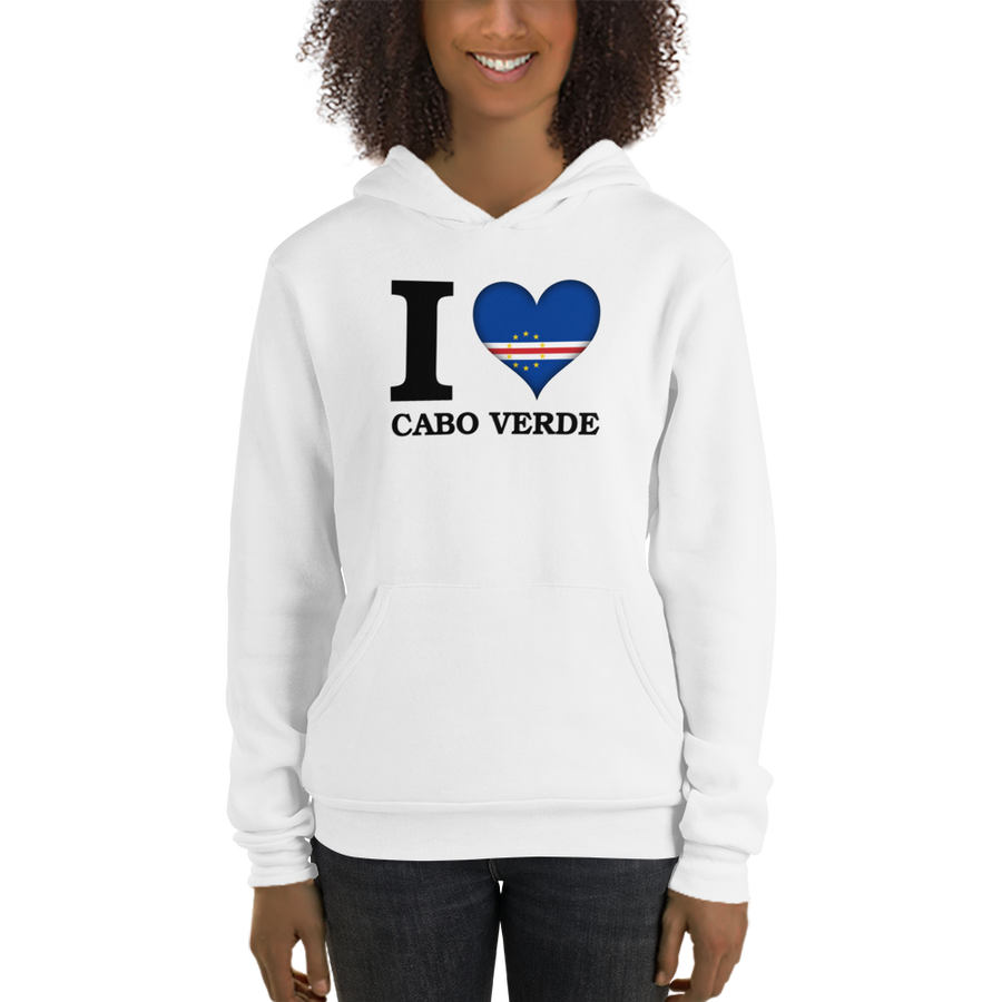 I ❤ CABO VERDE (BLACK) — Women's Pullover Hoodie