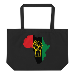 RAISED FIST 'AFRICA' (UNIA/YELLOW) — Organic Tote Bag