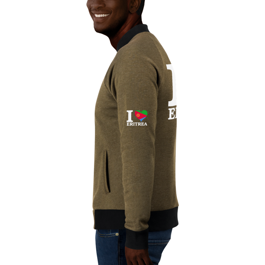 I ❤ ERITREA (WHITE) — Men's Bomber Jacket