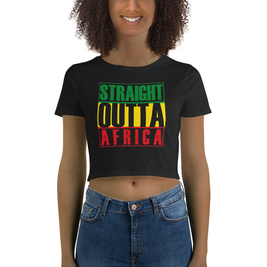 STRAIGHT OUTTA AFRICA (RASTA) — Women's Crop Tee