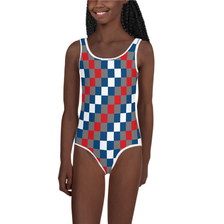 EWE KENTE 'EWO' — Hand-sewn Kids' Swimsuit
