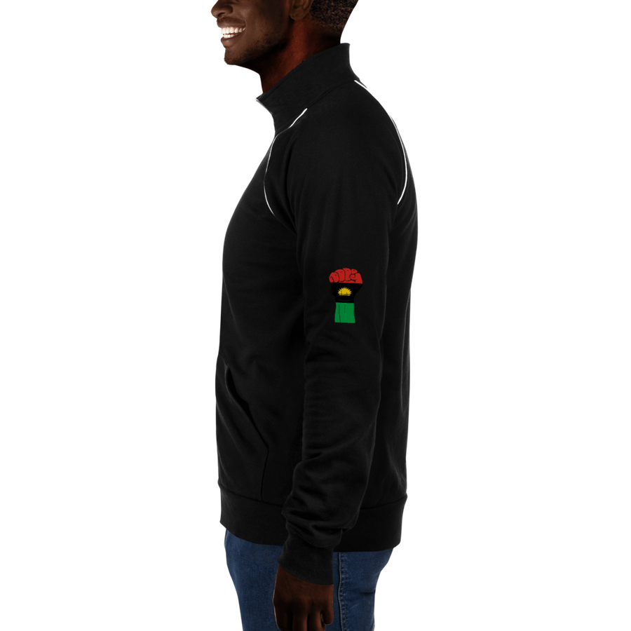 RAISED FIST 'BIAFRA' — Men's Piped Fleece Jacket