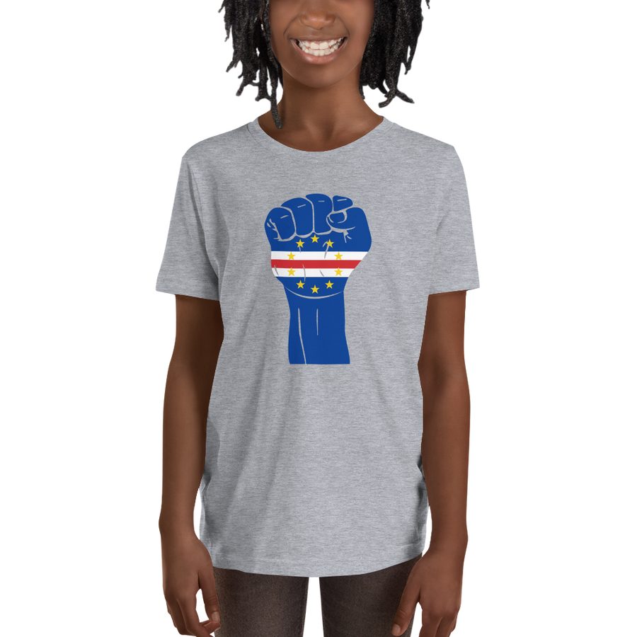 RAISED FIST 'CABO VERDE' — Short-sleeved Youth T-shirt