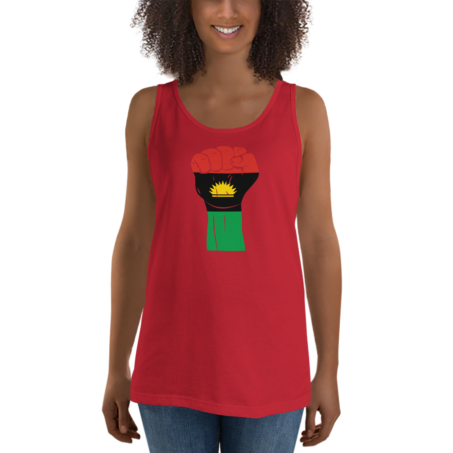 RAISED FIST 'BIAFRA' — Women's Premium Tank Top